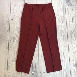 Vintage 70's bell bottom pants burgundy size 36